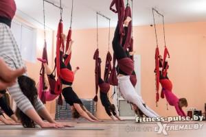 Йога в воздухе в Минске в фитнес-клубе Pulse